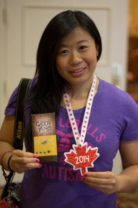 I didn't go home empty handed. I got chocolate bar (yum!) and a participation medal :)